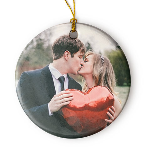 Porcelain Round Christmas Photo Ornament | Christmas Ornaments and Decor |  Gifts | Snapfish US