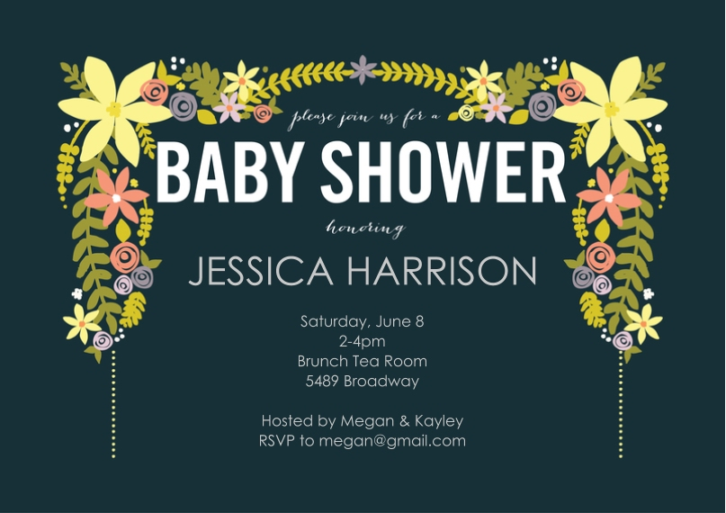 Baby shower inviations custom photo baby invitations snapfish solutioingenieria Images
